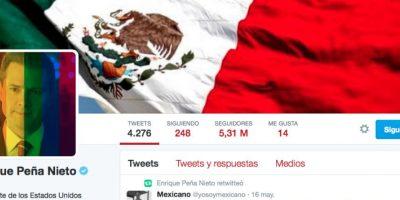 El presidente de México colocó el filtro en su twitter Foto:twitter @EPN