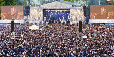 """Más de 100 mil aficionados inunadaron la ciudad para festejar con los """"Zorros"""". Foto:Getty Images"""