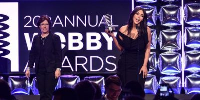"El look de Kim Kardashian en los ""Webby Awards"" Foto: Getty Images"
