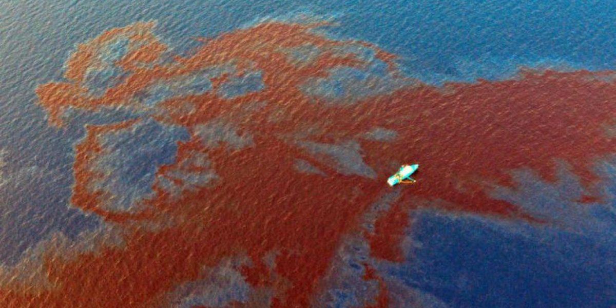 FOTOS: un nuevo derrame de petróleo en el Golfo de México