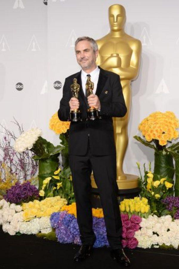 Cuarón fue el primer director mexicano en obtener el galardón de Dirección de la Academia, por Gravity. Foto:Getty Images