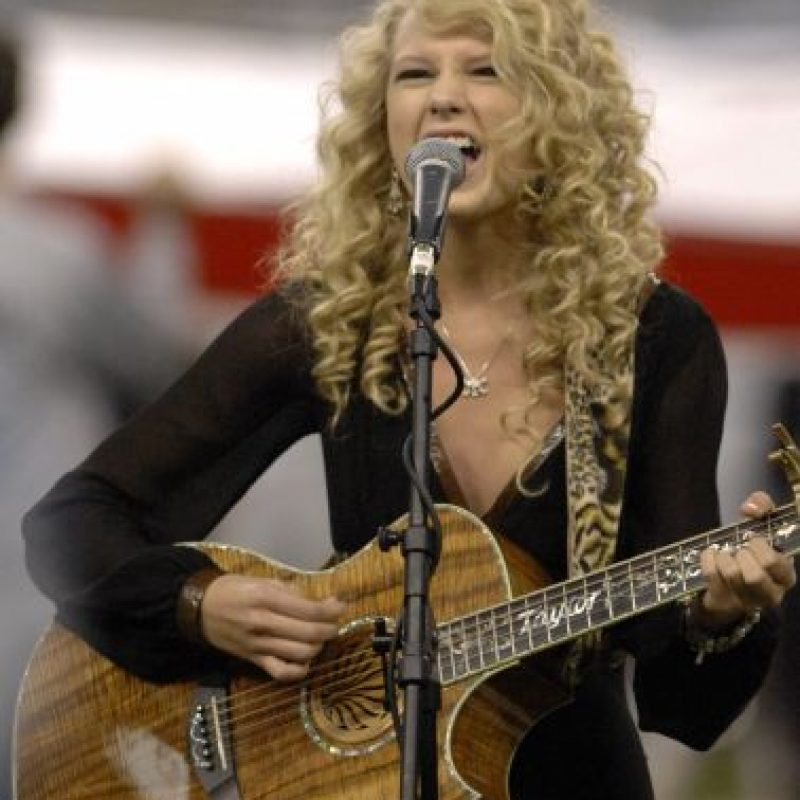 Taylor swift lanzó su primer álbum, de corte country en 2006. Foto: Getty Images