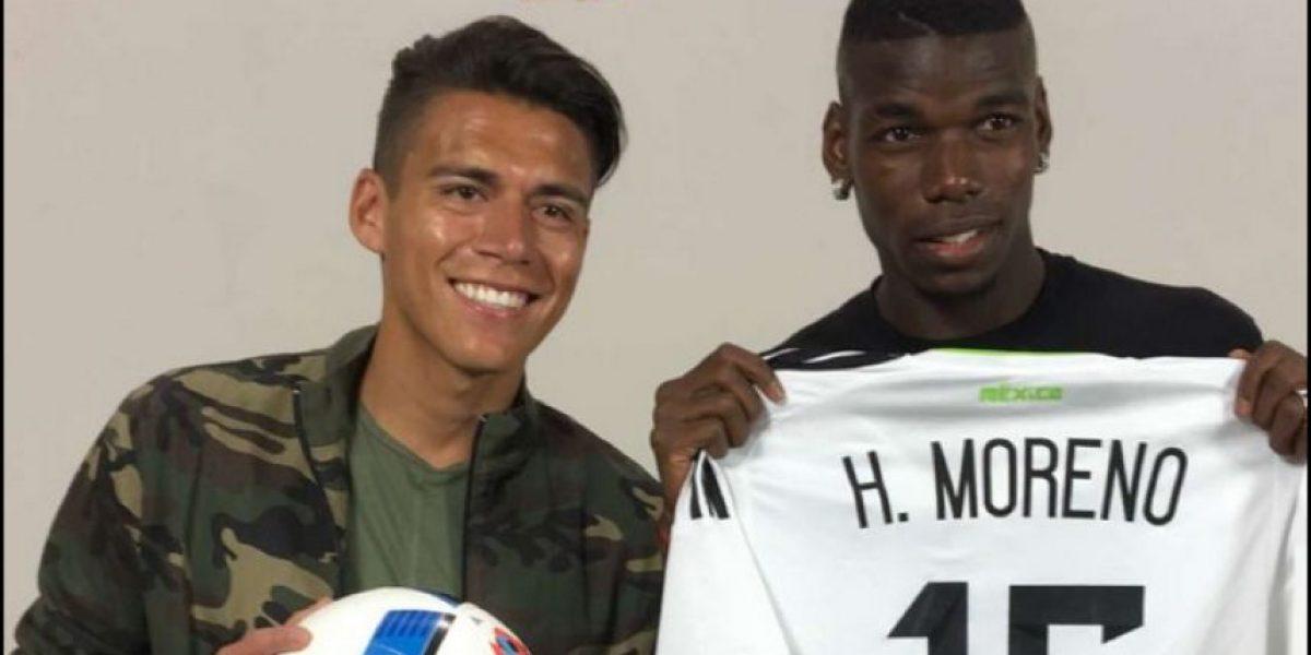 Héctor Moreno regala playera del Tri a Pogba