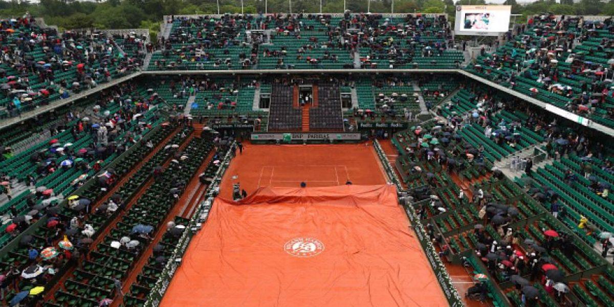 Lluvia empaña el inicio de Roland Garros