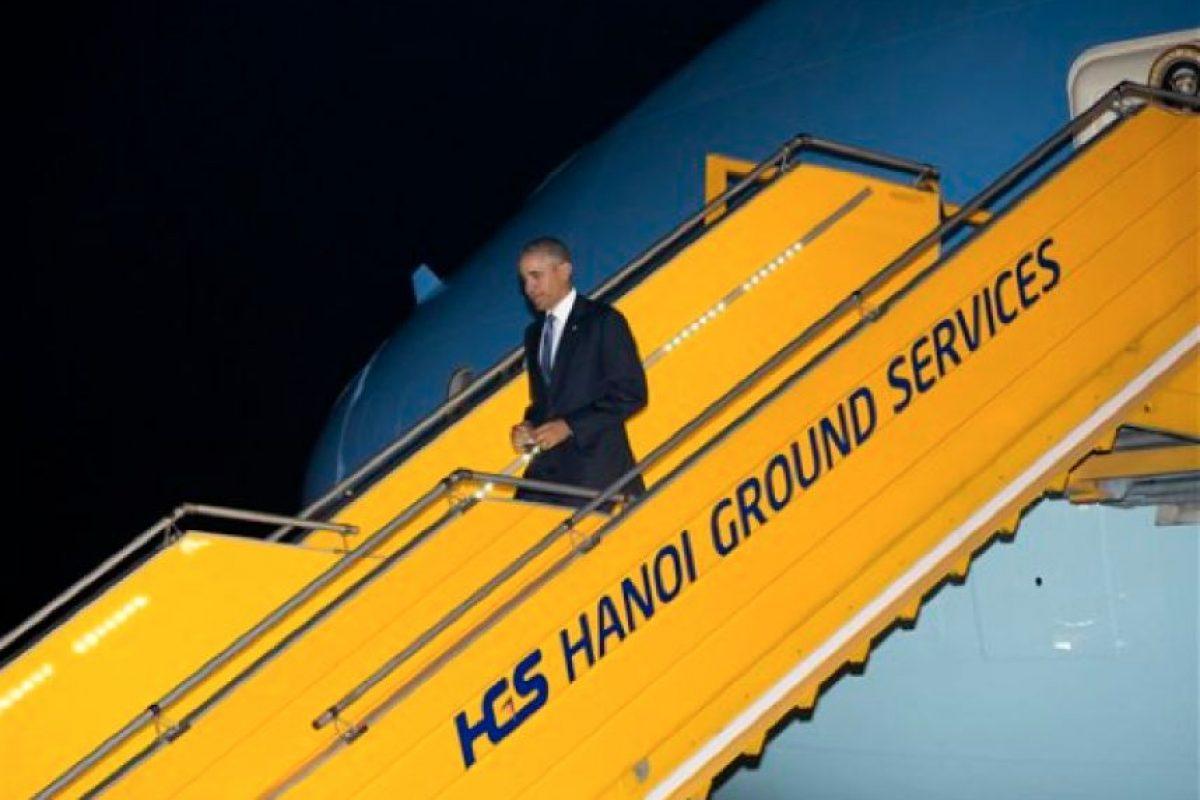 El avión presidencial Air Force aterrizó más de dos horas antes de la hora prevista inicialmente. Foto:Ap