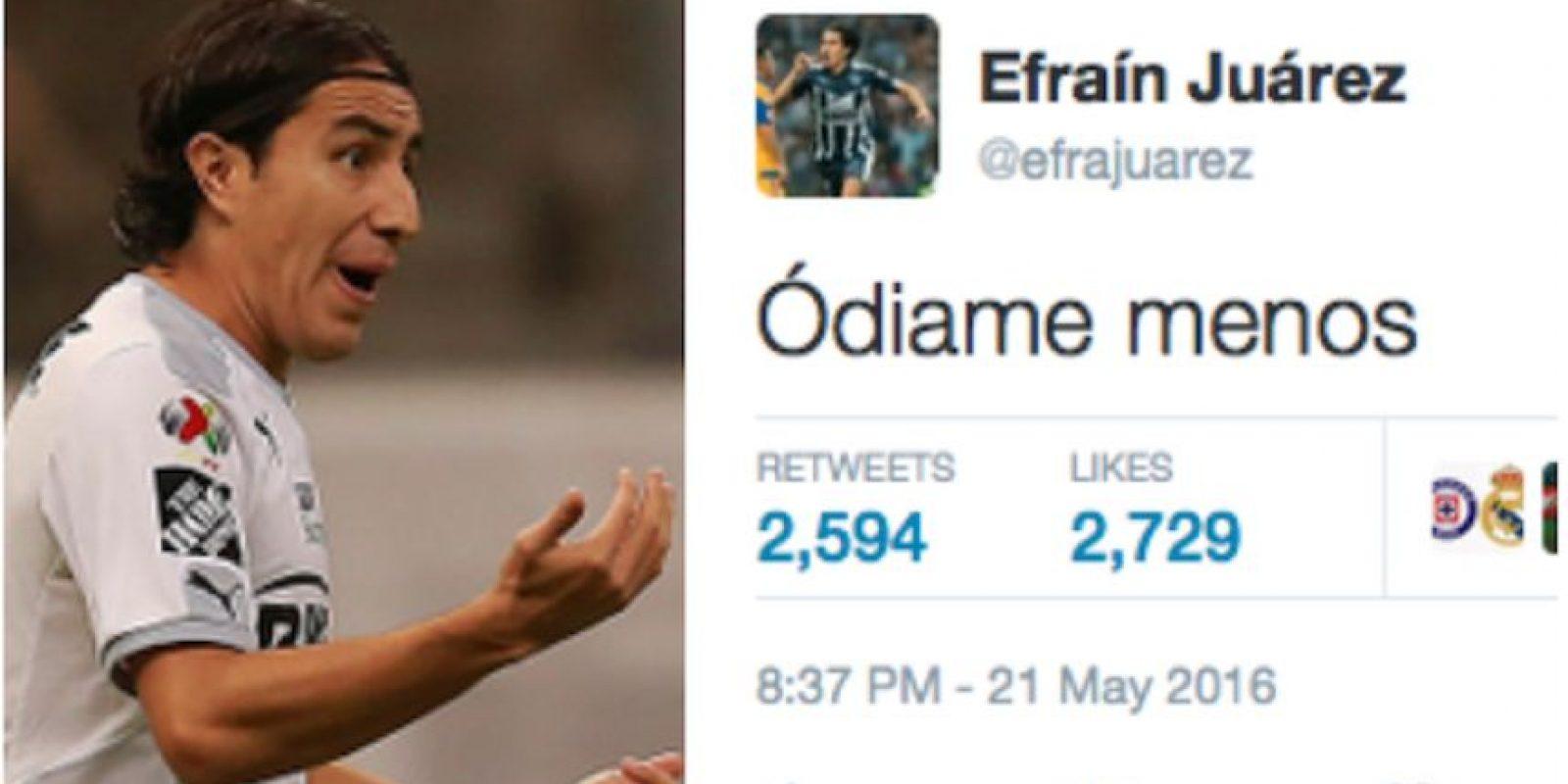 El lateral de Rayados le dedicó un mensaje a las Águilas en Twitter. Foto:Especial
