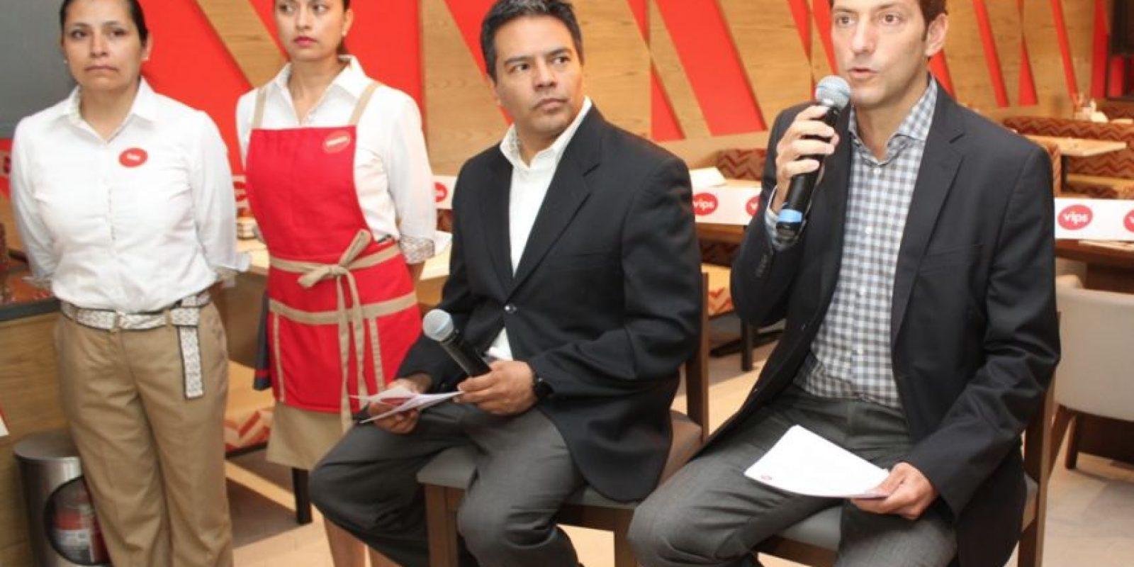 Alfonso Tinoco, director de Marketing de Vips (izq.); y Gerardo Rojas, director de Marca de Vips (der.). Foto:Nicolás Corte / Publimetro