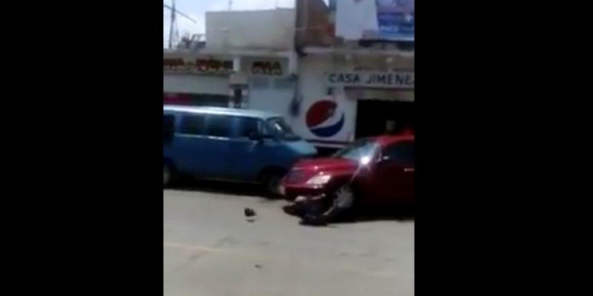 VIDEO: automovilista atropella a policía en Hidalgo