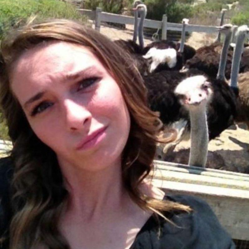 Con avestruces Foto:Imgur