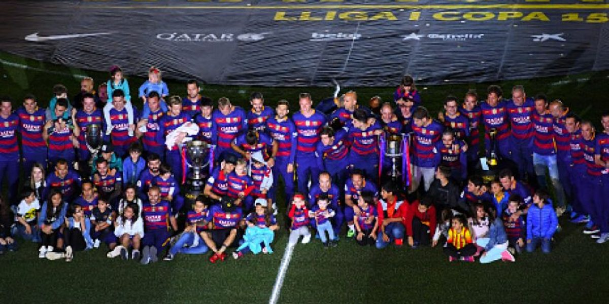 Barcelona celebra el doblete sin Messi ni Suárez