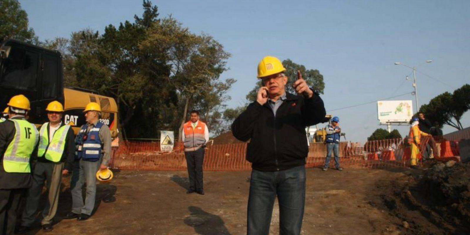 El director del metro estuvo presente en el lugar de los hechos Foto:Especial