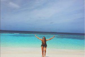 Lucia en la playa Foto:Instagram
