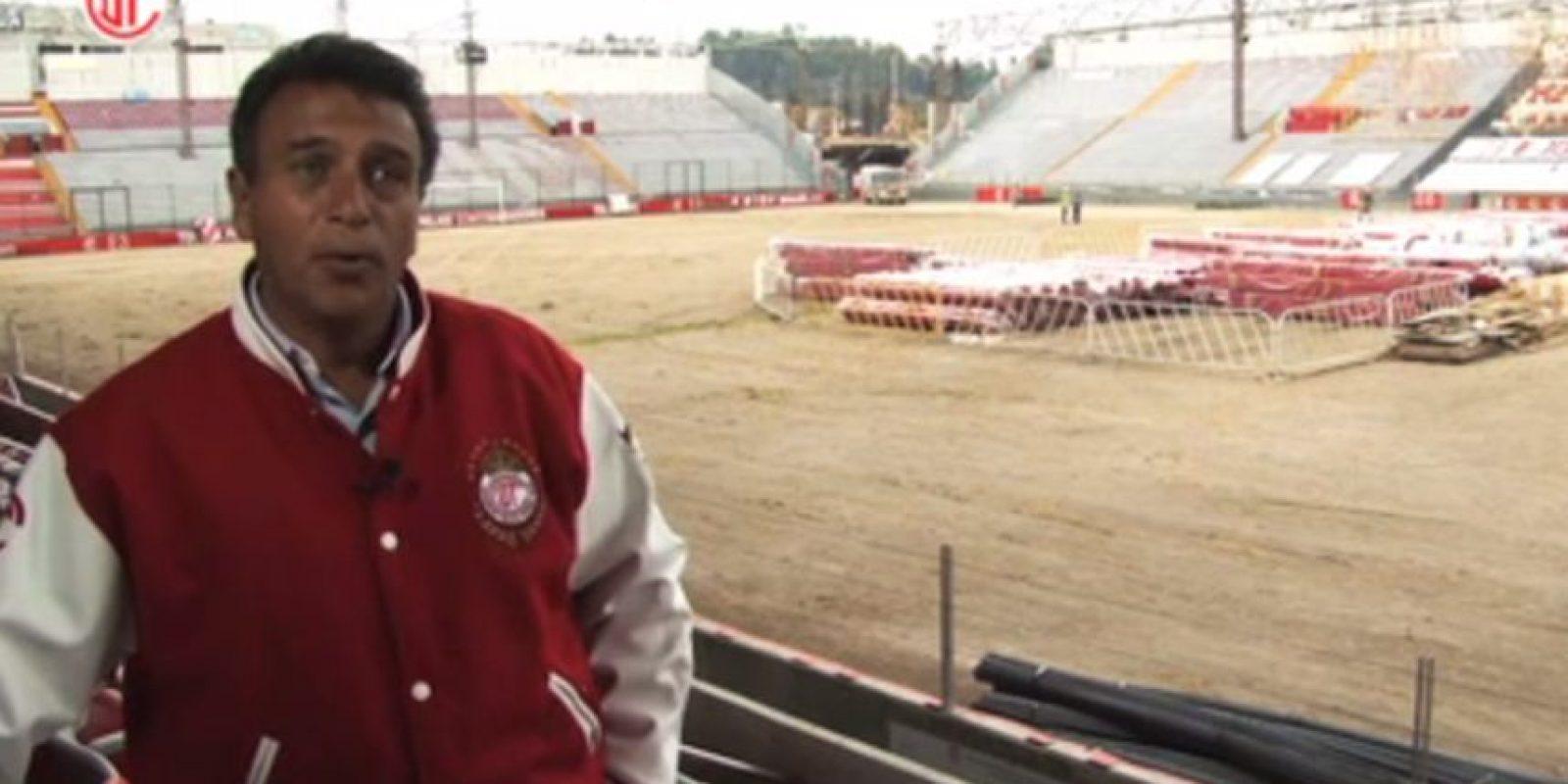 Se queda sin pasto el Estadio Nemesio Diez Foto:Especial