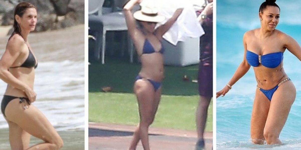 7 famosas que lucen envidiables en bikini, a pesar de su edad