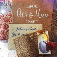 Estas fueron las invitaciones que se enviaron para la boda de Ais y Mau Foto:Instagram