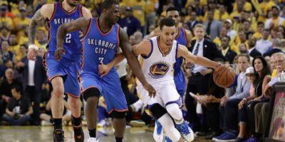 Golden State sigue con vida en los playoffs de la NBA ante el Thunder de Oklahoma Foto:Getty Images