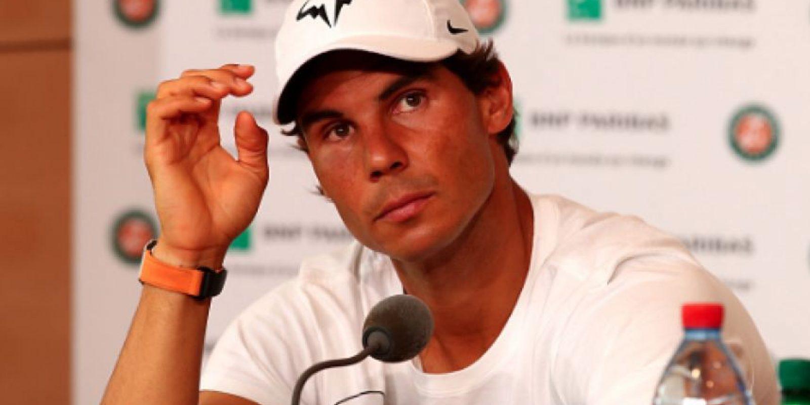 Rafael Nadal se despide de Roland Garros por una lesión en la muñeca Foto:Getty Images