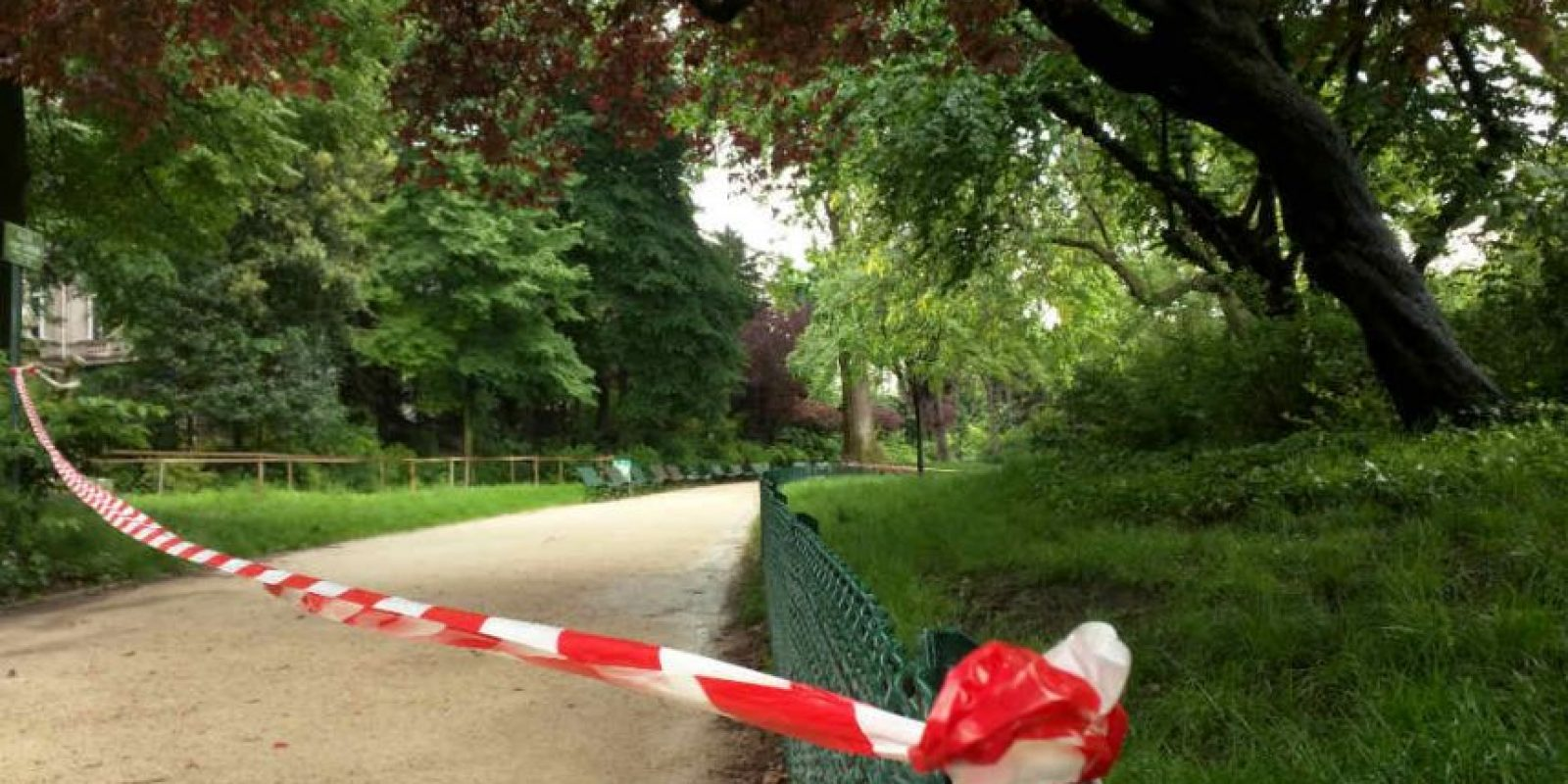 Las víctimas se habían refugiado debajo de un árbol en el parque Monceau Foto:AP