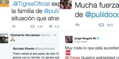 Decenas de personalidades y equipos manifestaron su empatía con la familia del delantero mexicano. Foto:Especial