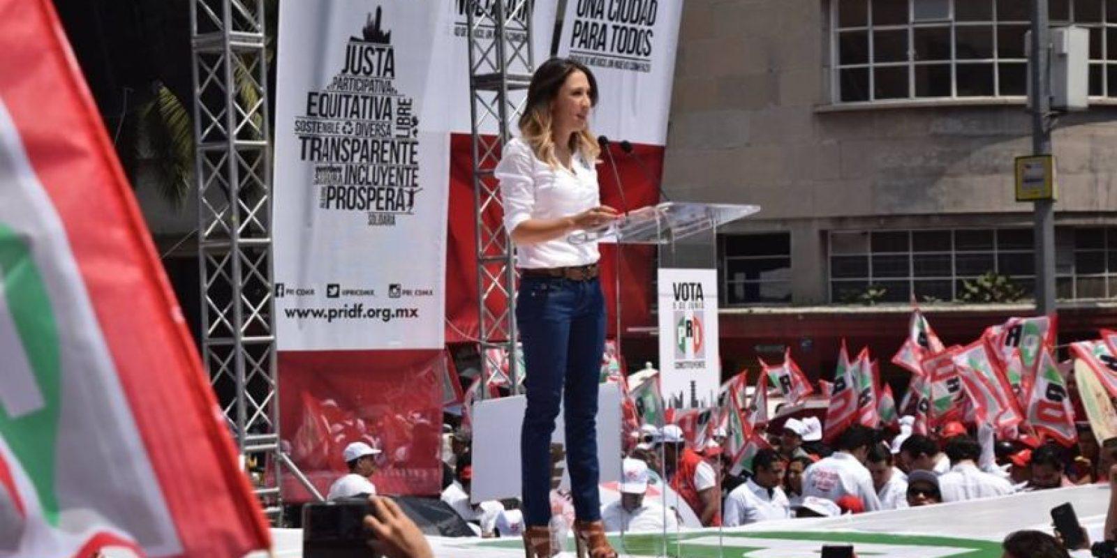 La presidenta del PRICDMX Mariana Moguel realizó el cierre de campaña Foto:Especial