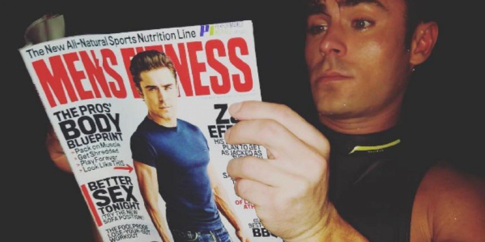 Zac Efron es la portada de la revista Mens Fitness Foto:Instagram