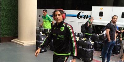 Ochoa llegando Foto:@RodolfoLanderos