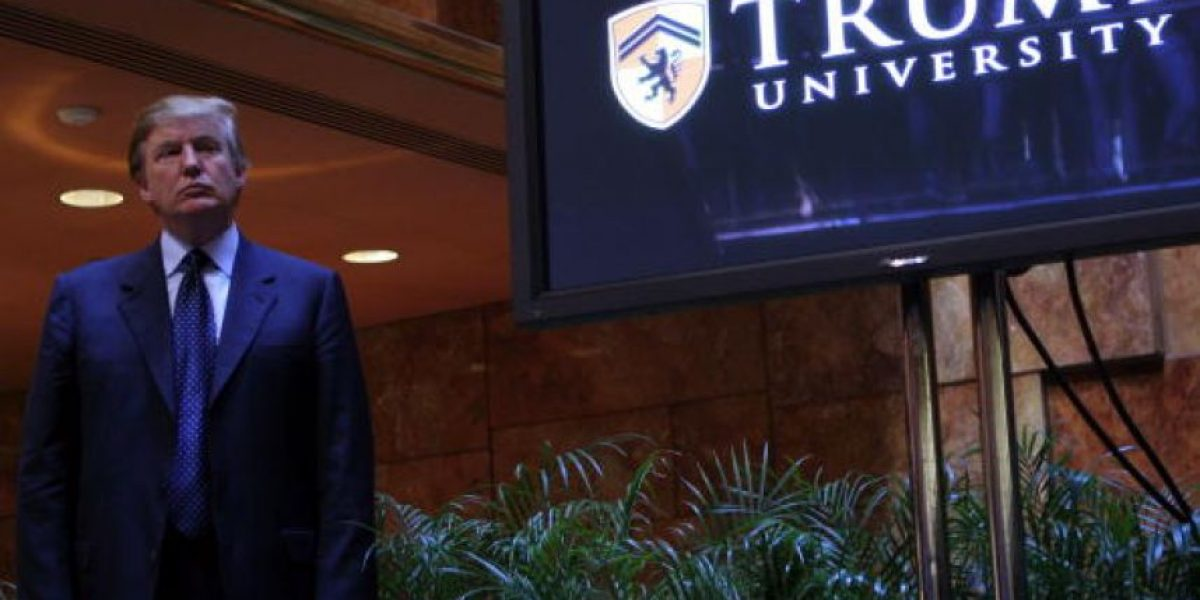 La universidad que Donald Trump fundó es acusada de fraude