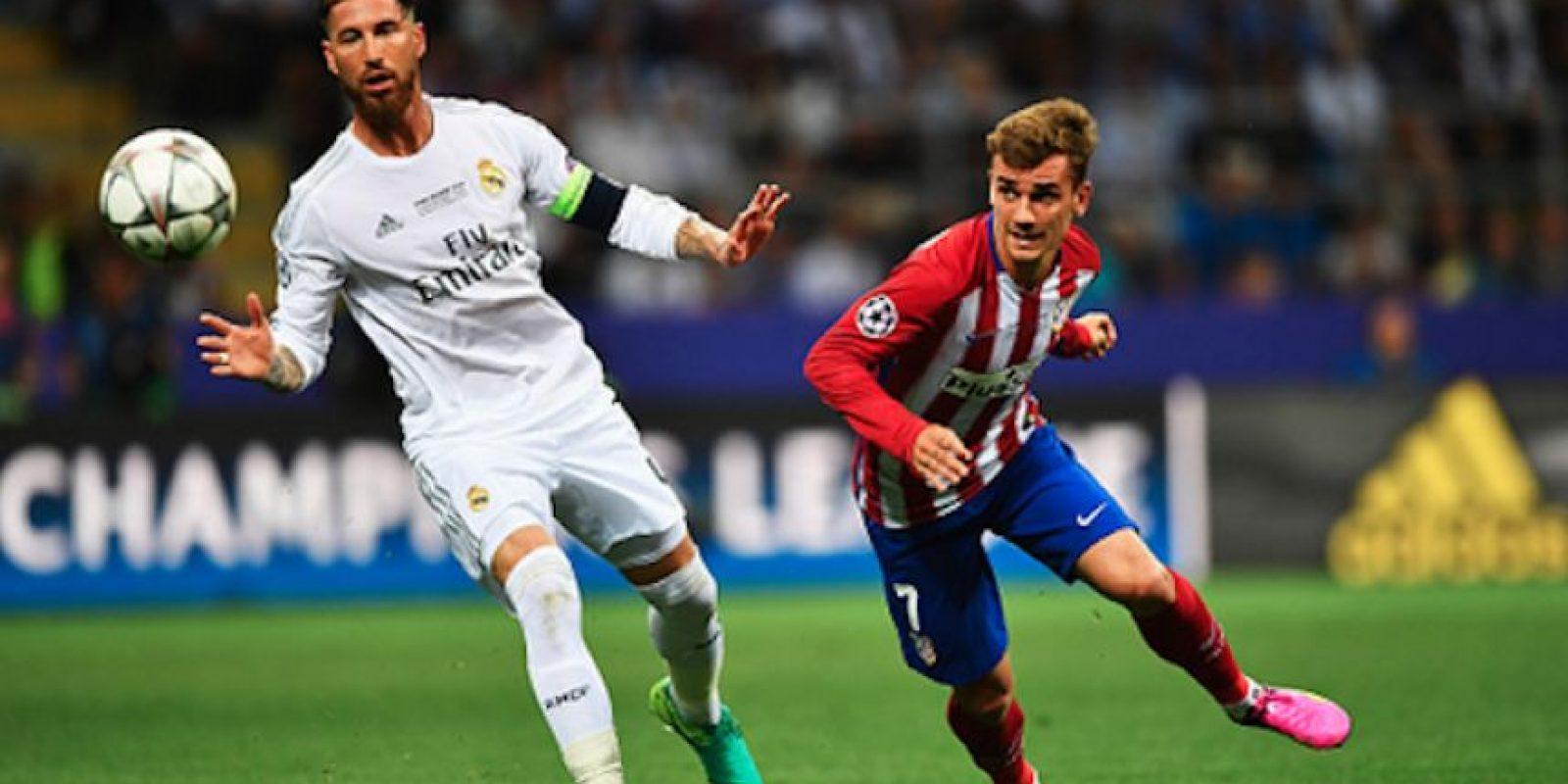 Sergio Ramos y Antoine Griezmann Foto:Getty Images