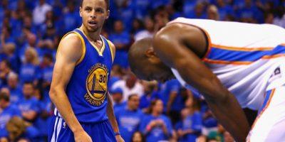 El MVP tiene a Golden State por segundo año consecutivo en la final de la NBA Foto:Getty Images