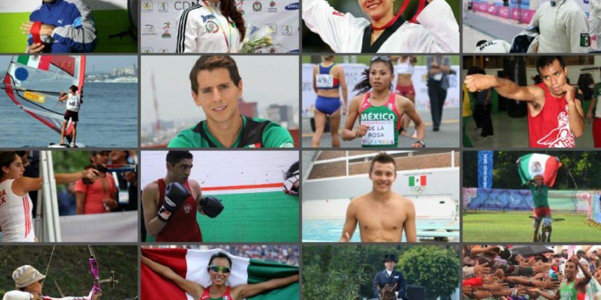 Los 93 deportistas que representarán a México en Río 2016