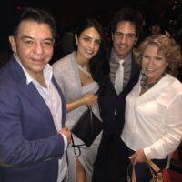 Con Albero Aguilera, esposo de Gaby Michel Foto:Twitter