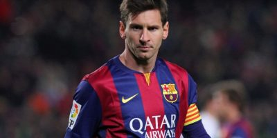 Messi y su look desarreglado Foto: Getty Images