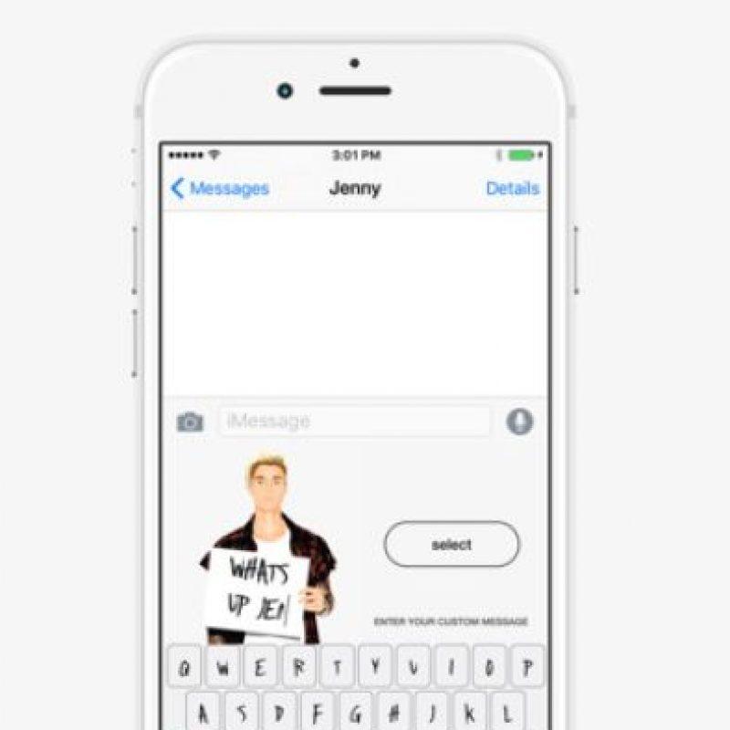 Podemos encontrar los emojis de Bieber a partir de hoy. Foto:App Store