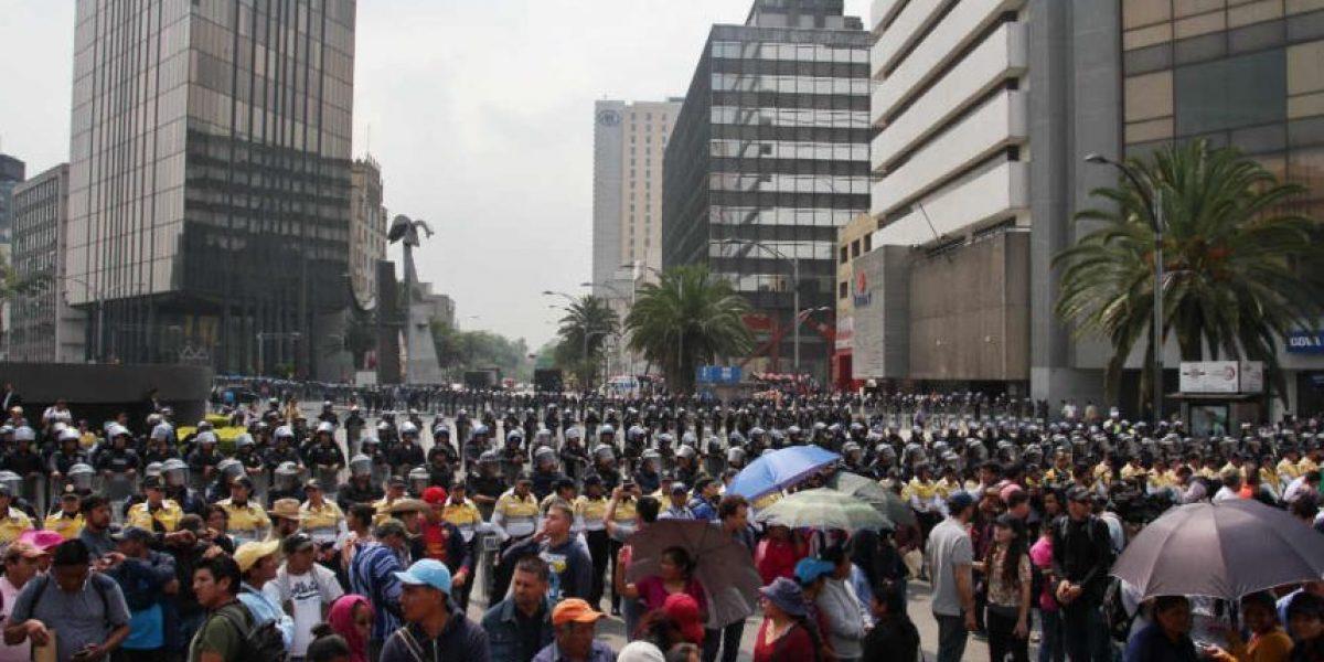 CNTE regresa al plantón en La Ciudadela