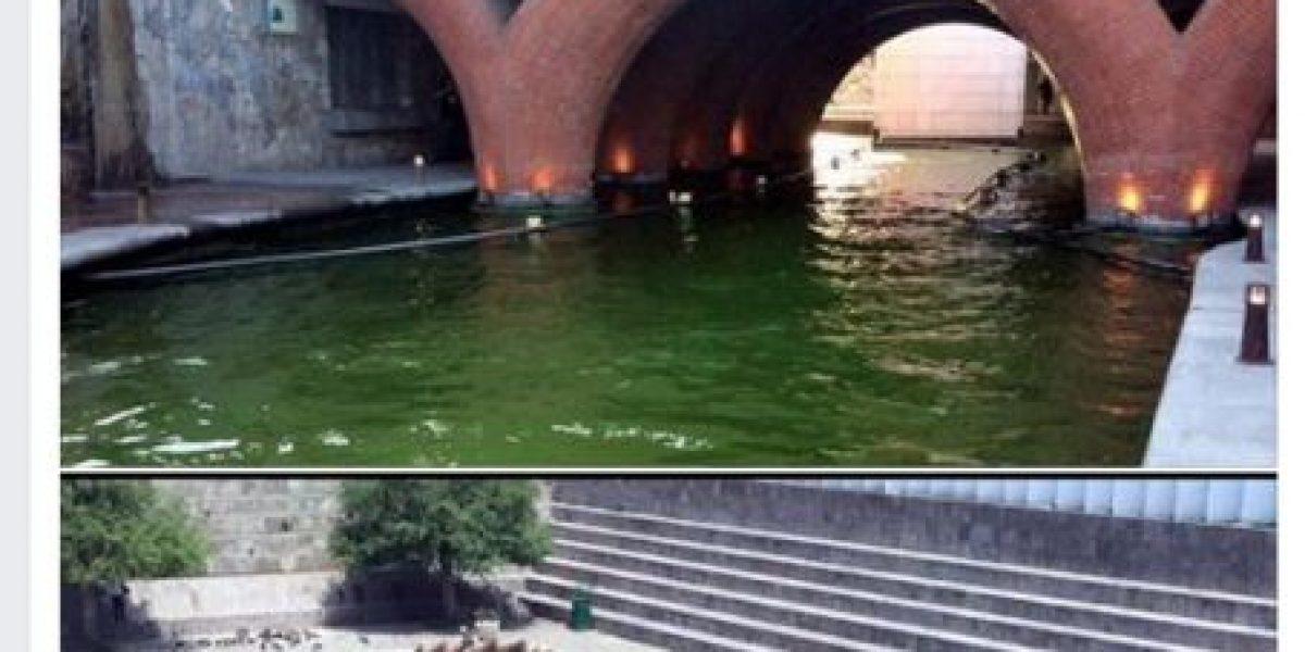 Sigue incomodando al gobierno de Nuevo León fotos del agua verde