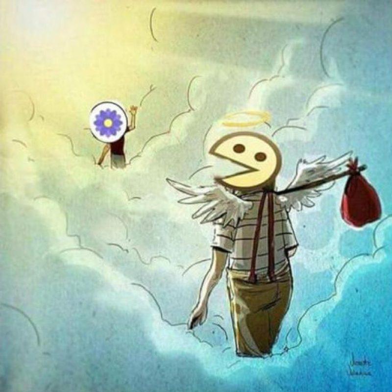 Ahora se encuentra con la flor morada. Foto:Facebook