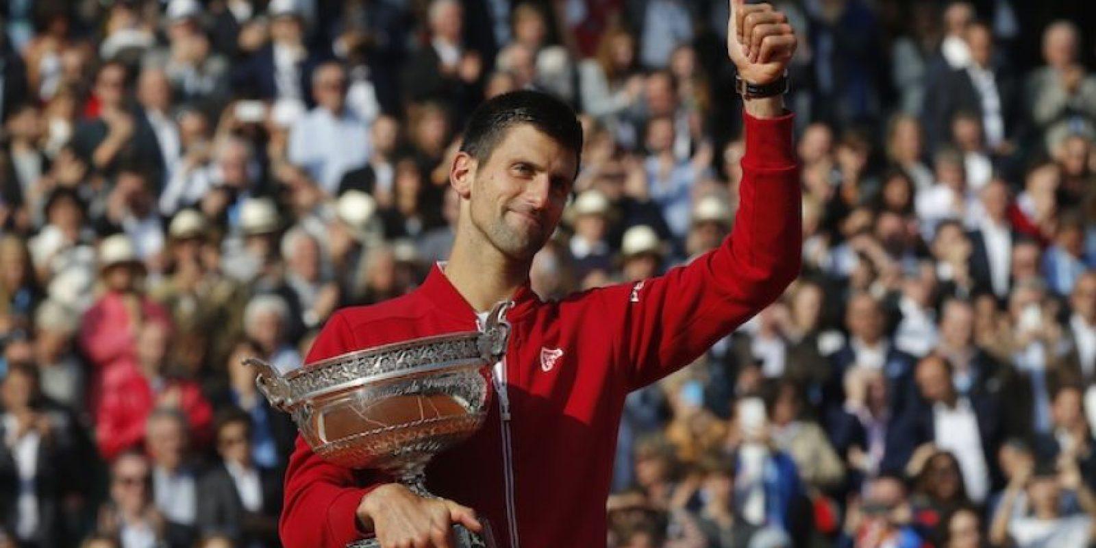 """""""Nole"""" consiguió su primer Abierto de Francia, el Grand Slam número 12 en su carrera. Foto:AP"""