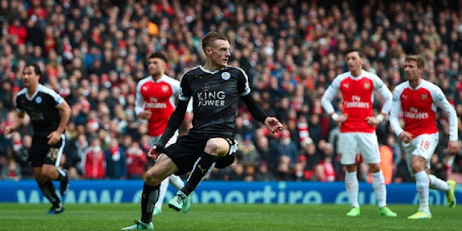 """Vardy anotó 24 goles con los """"Zorros"""" durante la temporada anterior. Foto:Getty Images"""