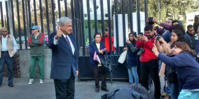 Andrés Manuel López Obrador emitió su voto en la colonia Copilco, al sur de la CDMX Foto:Cecilia Borja/Publimetro