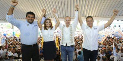En coalición con el PRD, Carlos Joaquín del PAN obtendría la gubernatura de Quintana Roo. Foto:Cuartoscuro