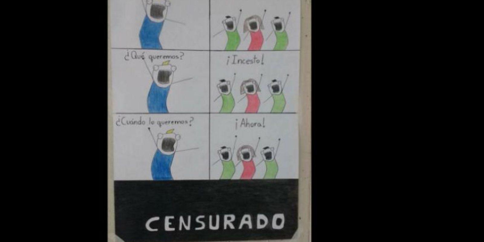 Acá se mofan del incesto, tema recurrente en la telenovela. Foto:vía Facebook/JackieBreuma