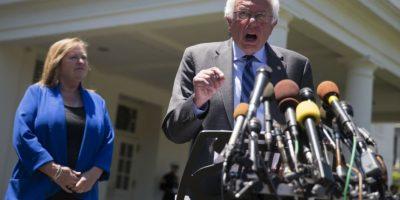 El senador espera reunirse con la candidata oficiosa de su partido, Clinton Foto:AP