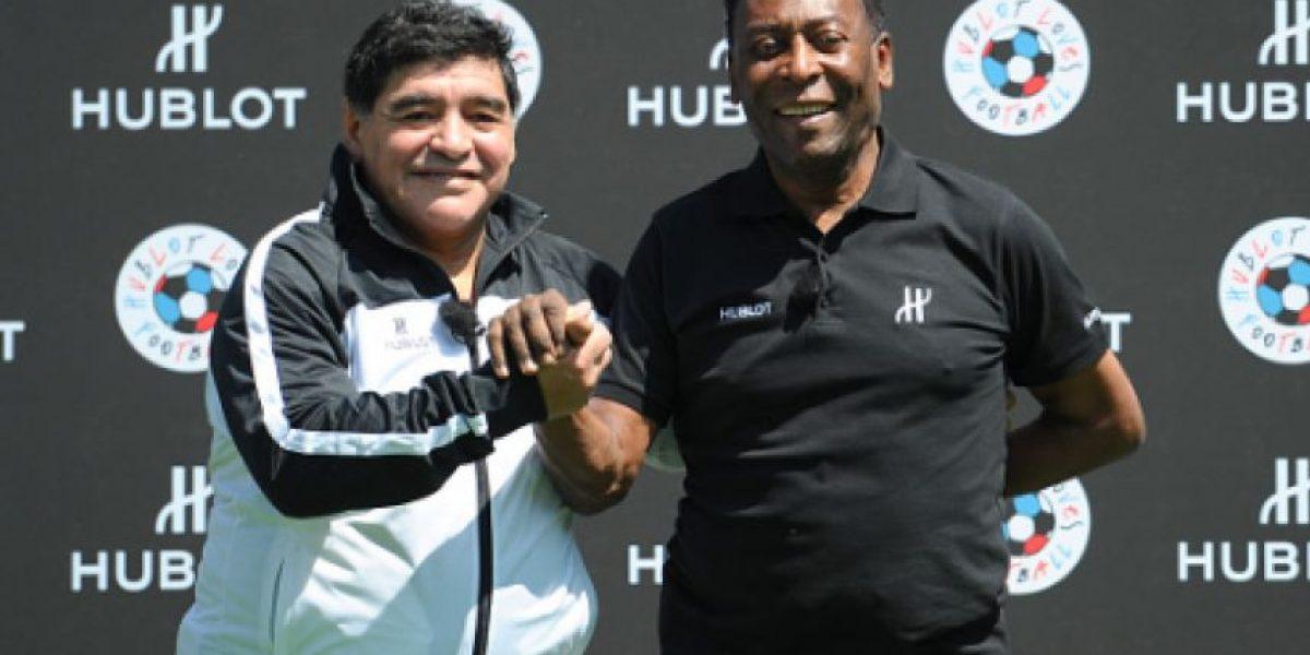 VIDEO: Captan a Maradona con Pelé hablando mal de Lionel Messi