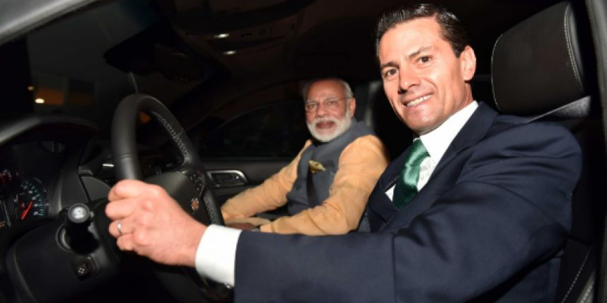 Peña Nieto invita taquitos de frijol al ministro de India