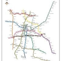 Mapa completo con todas las líneas y estaciones de la red del Sistema de Transporte Colectivo Metro de la Ciudad de México.