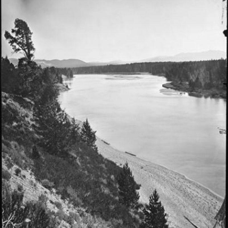 La zona del lago, en 1871 Foto:AP