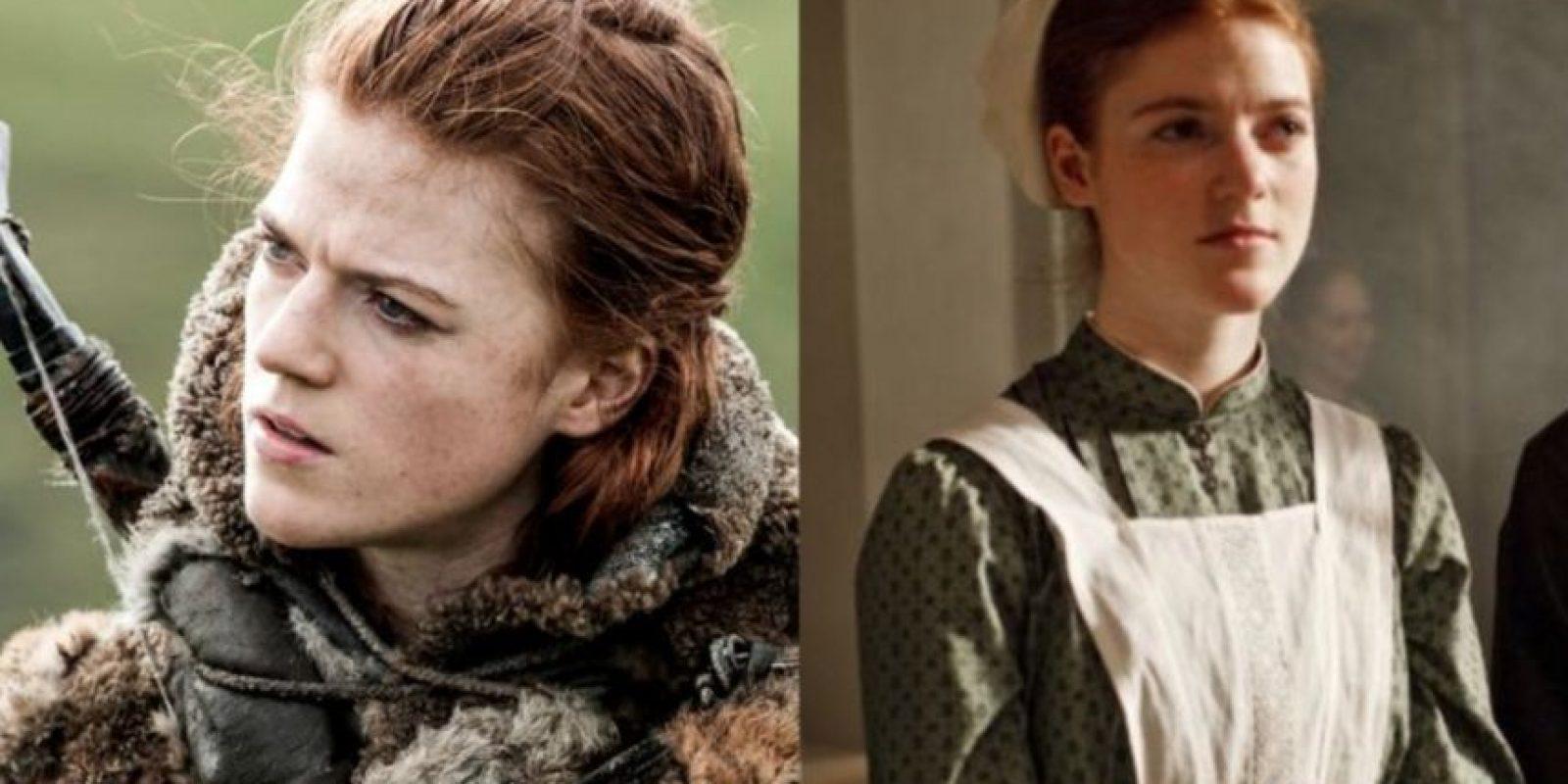 "Rose Leslie, la famosa ""Ygritte"" y novia de Kit Harington, estuvo en ""Dowtown Abbey"". Foto:HBO/ITV"
