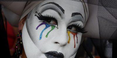 Algunos se manifestaron en la Marcha por el Orgullo Gay de los Ángeles Foto:AFP