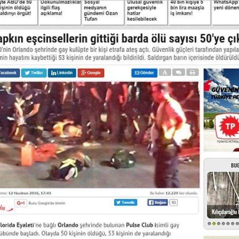 La portada online del periódico turco Foto:Twitter.com