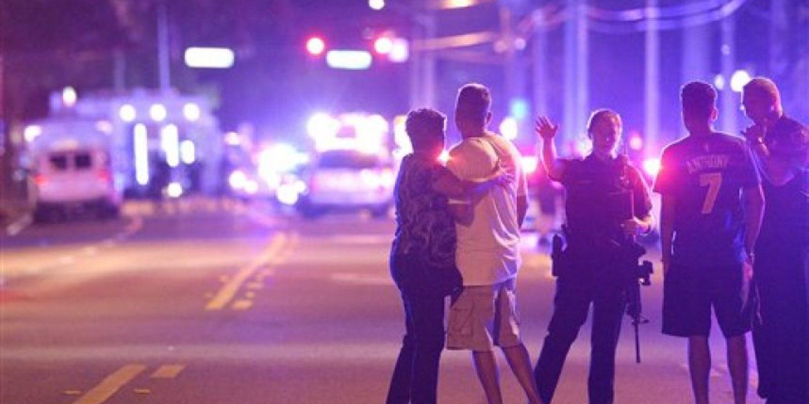 Momentos después de los ataques en Orlando Foto:AP